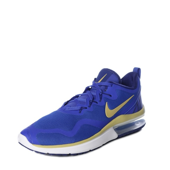 bfc63e295a4 Nike Air Max Fury RUNNING SHOES blue gold new